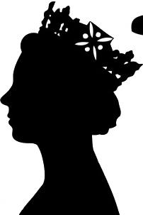queen head black profile